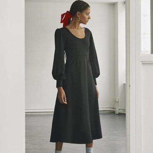 Eliza Faulkner Pandora Knit Dress, Black