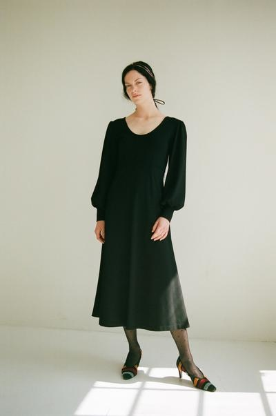 Eliza Faulkner Pandora Knit Dress, Black
