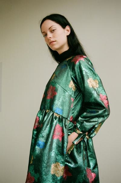 Eliza Faulkner Tallulah Jacquard Dress, Teal Print