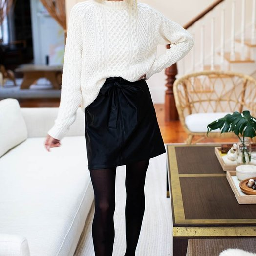 Emerson Fry Paris Skirt, vegan leather, Black