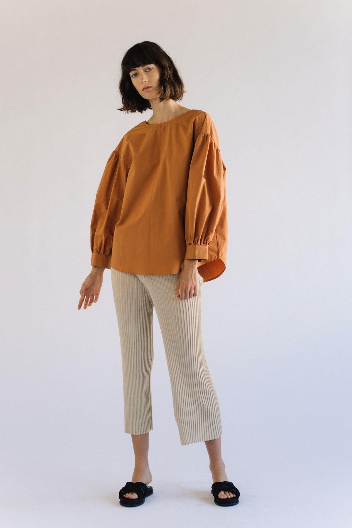 Mijeong Park Puff Sleeve Top, Orange
