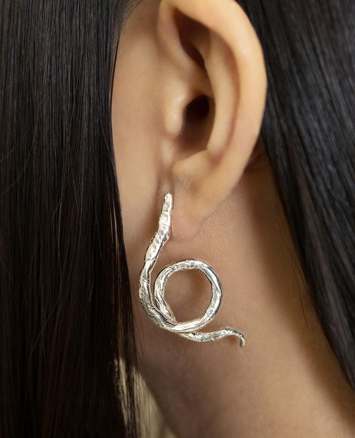 ORA-C Yvonne Earrings, Silver