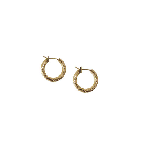 Laura Lombardi Mini Etched Hoops