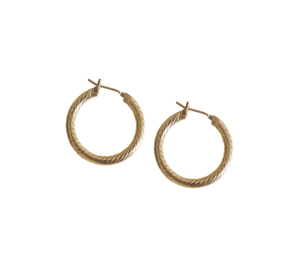 Laura Lombardi Etched Hoops