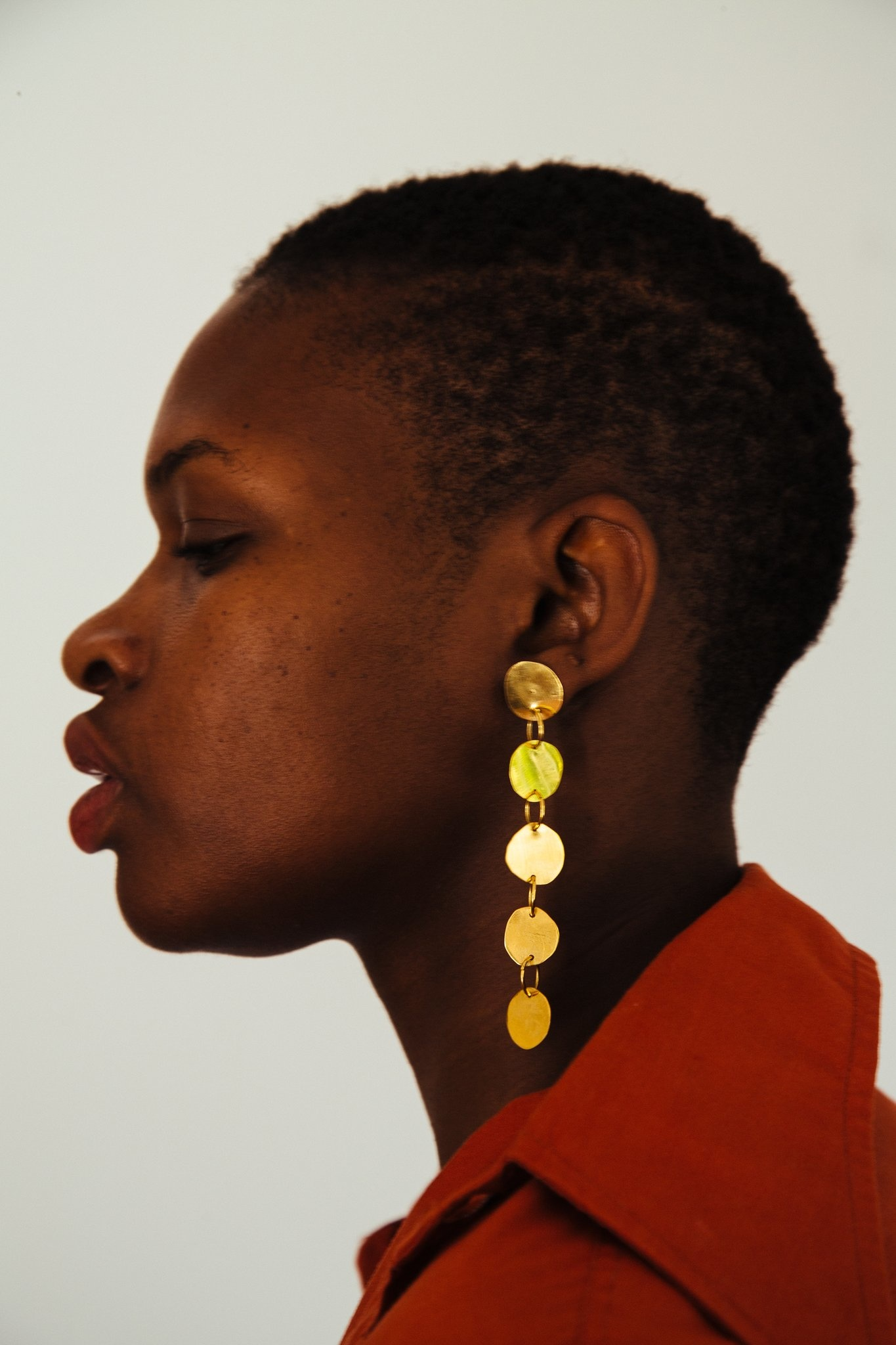 Levens S Paper Dore Earrings, Handmade, Gold Plated