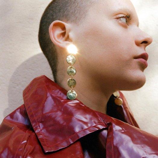 Levens S Paper Dore Earrings, Handmade, Gold Plated
