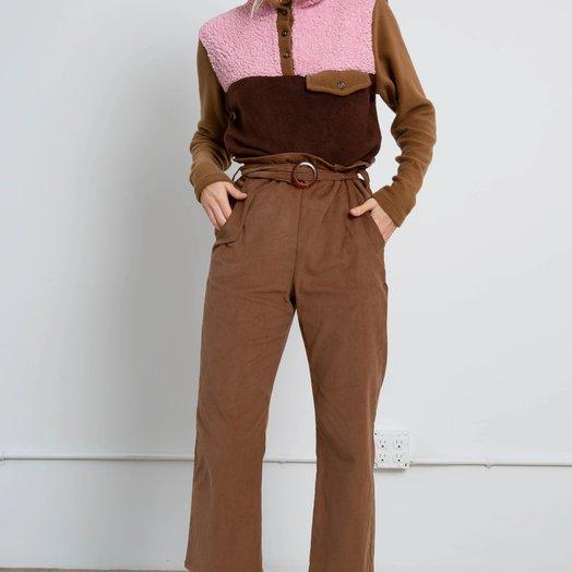 Donni Flora Cord Pants, Camel