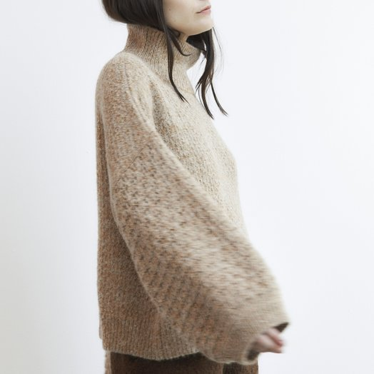 Wol Hide Tulip Sleeve Sweater, Wheat