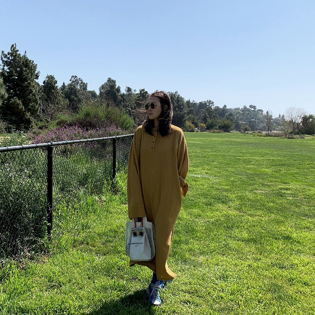 April Meets October California Dress, Camel, One Size Fits All