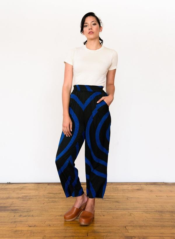 Seek Collective Sukie Pant, deep emerald echo print
