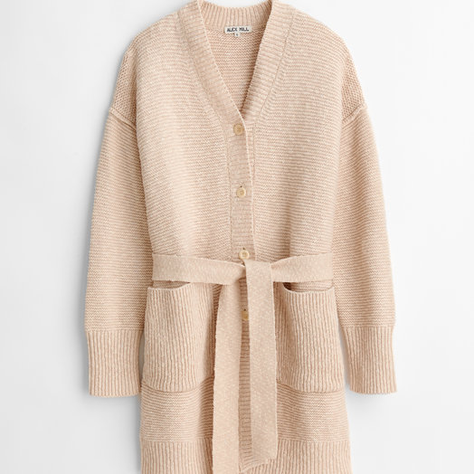 Alex Mill Long Chunky Cardigan, Wheat