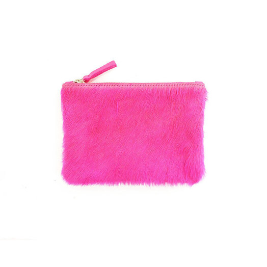PrimeCut Cowhide Coin Purse with Wristlet,  Pink Cowhide