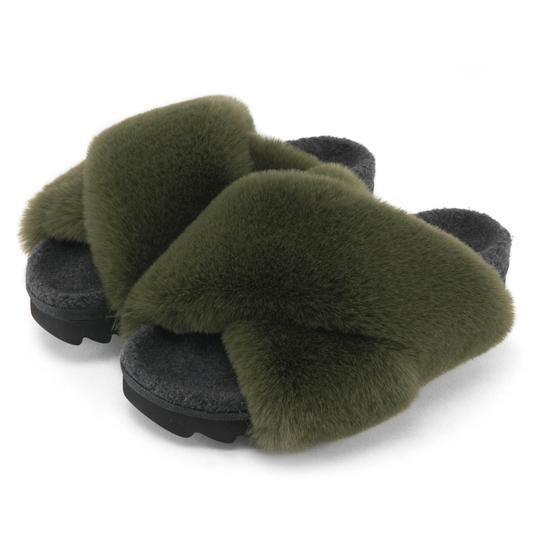 ROAM Roam Cloud Sandals in Khaki