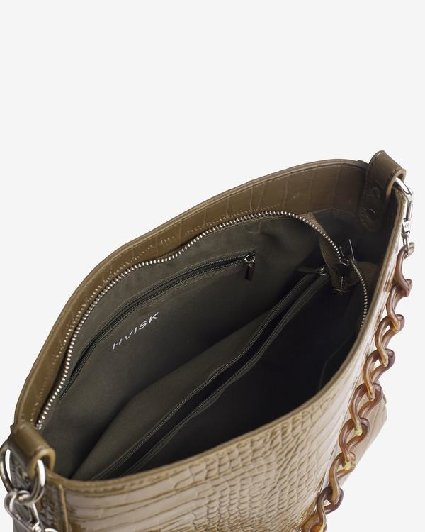Hvisk Amble Croc Bag, Olive