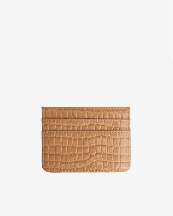 Hvisk Card Holder Beige Vegan Croc