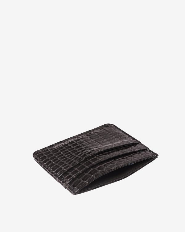 Hvisk Card Holder Black Vegan Croc