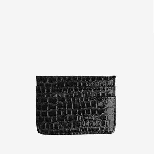 Hvisk Card Holder Black Vegan Croc