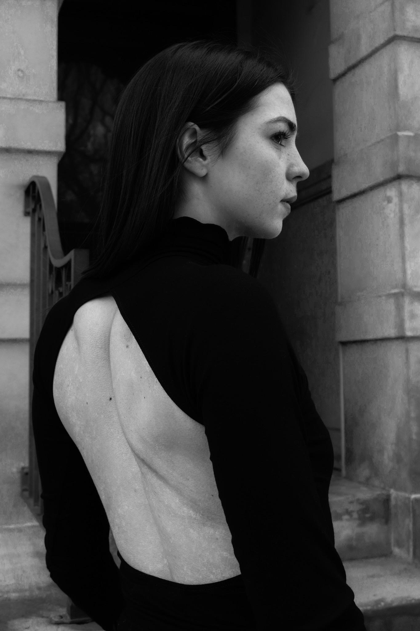 Line by K Margaux Top, Black