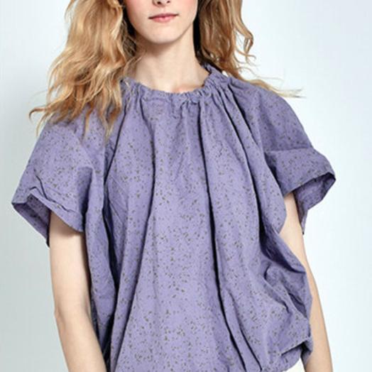 Uzi NYC Nina Blouse, Lavender, OSFA