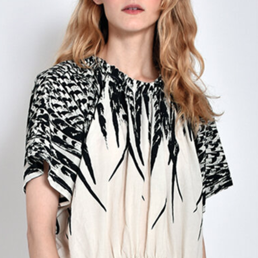 Uzi NYC Earth Dress, Feather