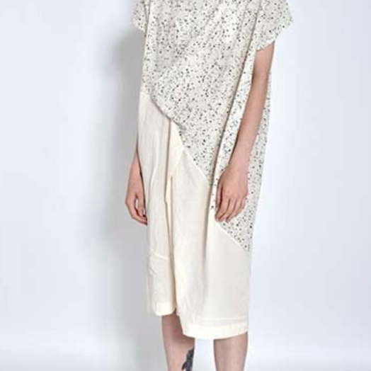 Uzi NYC Wave Dress, Speckled White