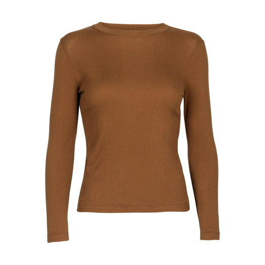 By Signe Flora longsleeved Rib T-shirt, Brown