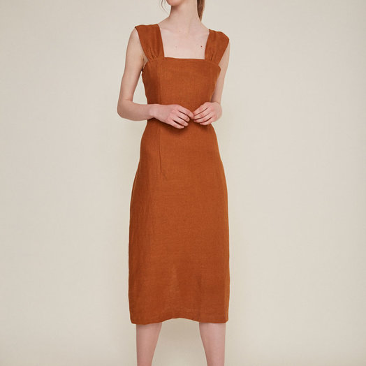 Rita Row Camel Dress