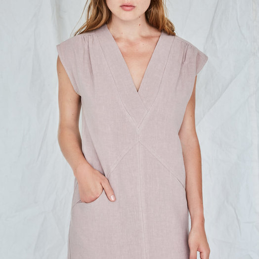 Eve Gravel Moss Rose Dress, Nutmeg