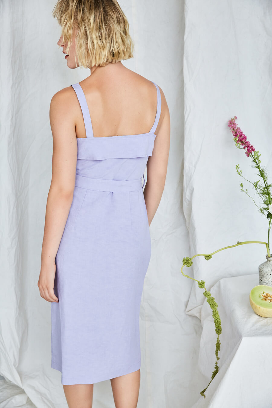 Eve Gravel Olympia Dress, Lavender
