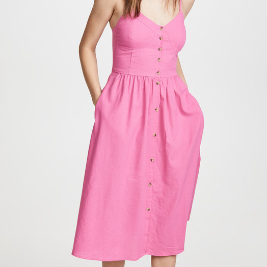 Rollas Eve Dress, Hot Pink