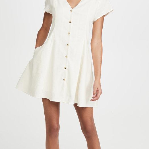 Rollas Milla, Linen Dress, VIntage White