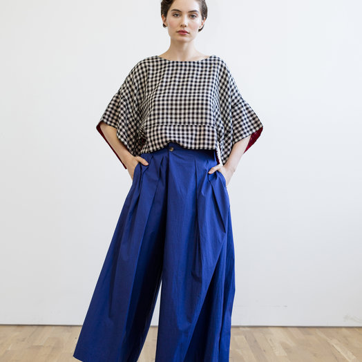 Rujuta Sheth Frida Flared Pants, Indigo