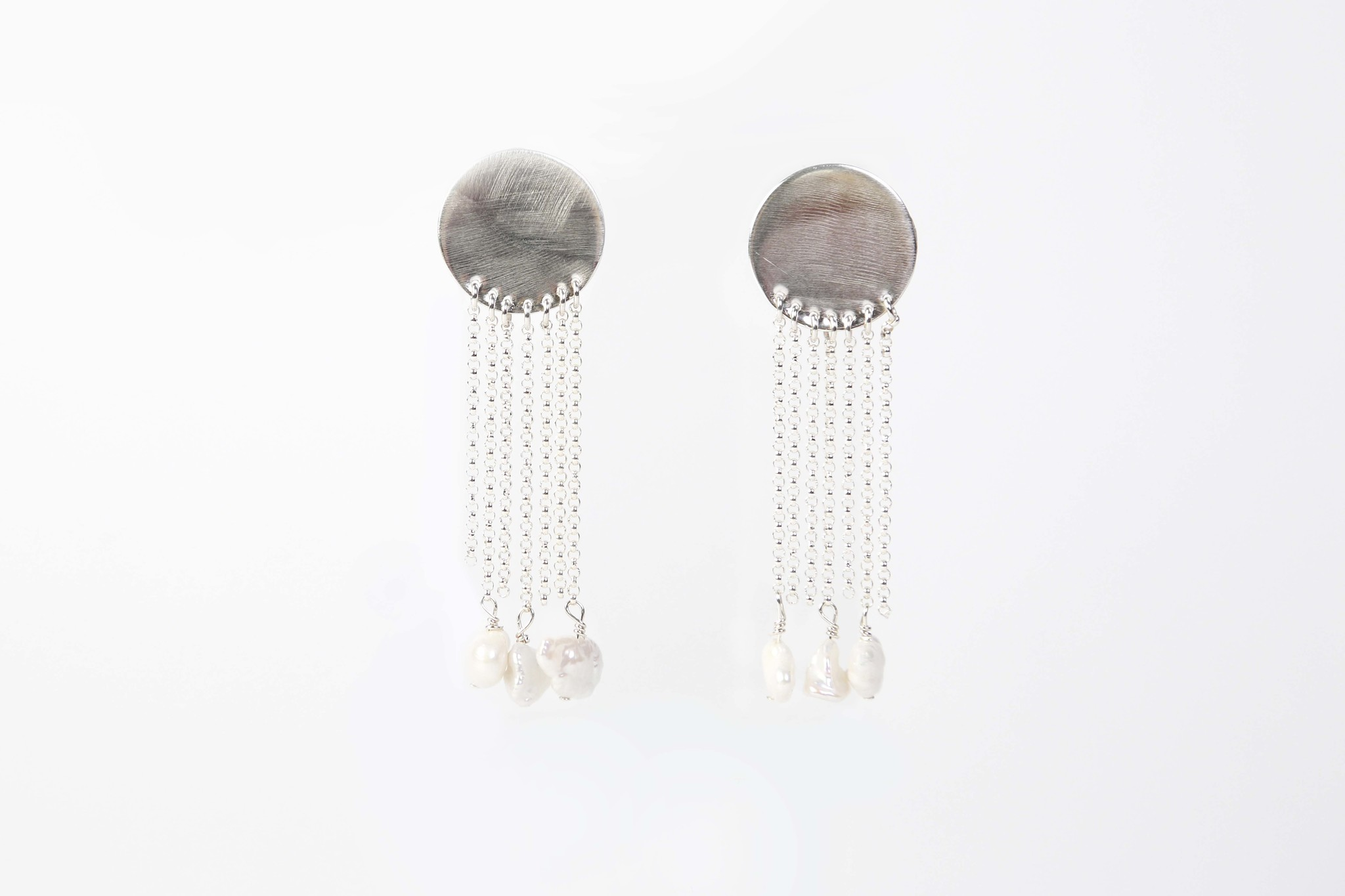 Chertova Cascade Earrings, Sterling SIlver