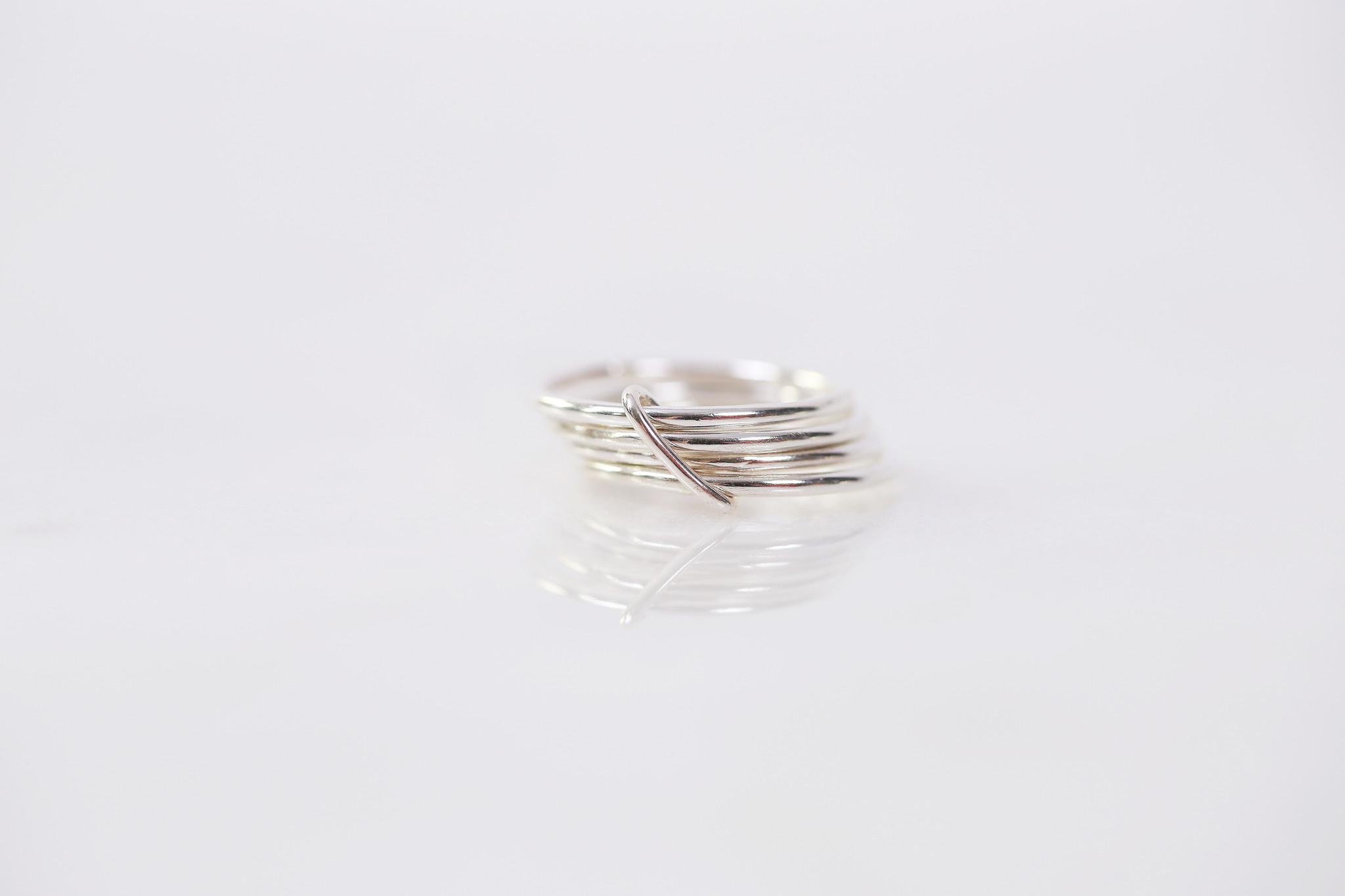 Chertova Fidget Ring, Sterling Silver