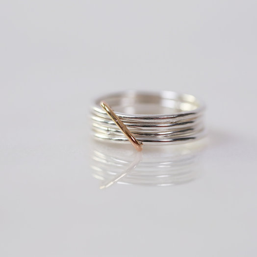Chertova Fidget Ring, Sterling Silver and 14k Gold Filled