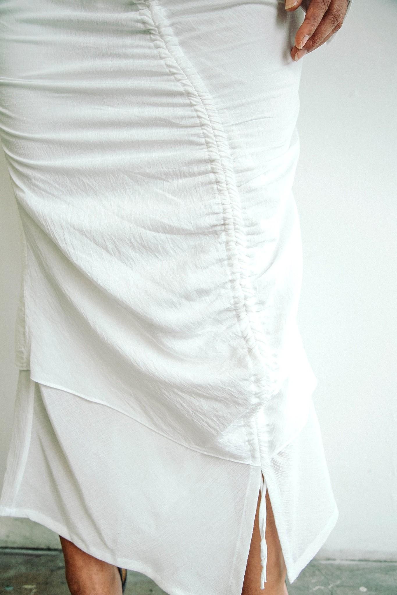Line by K Leomie Skirt White