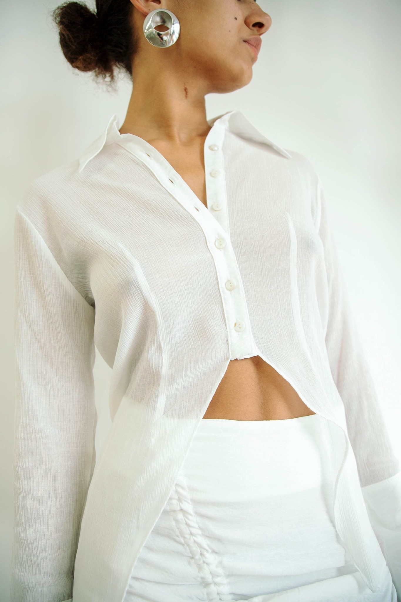 Line by K Leomie Shirt, White