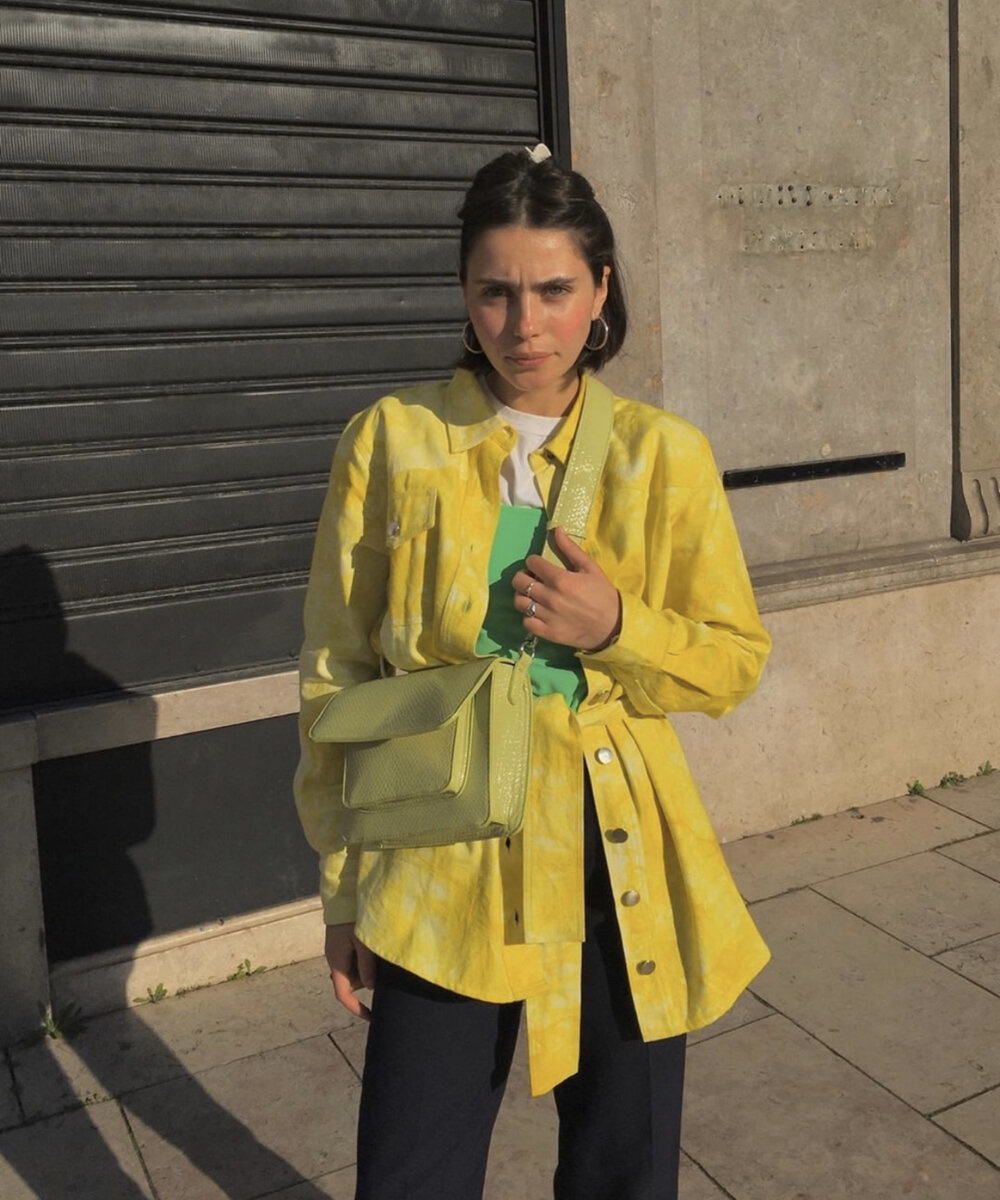 Hosbjerg Rina Tie Dye Shirt, Yellow/ White