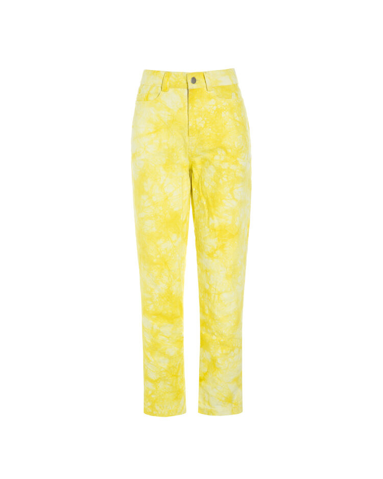 Hosbjerg Rina Tie Dye Pants, Yellow/White