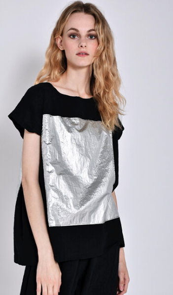 Uzi NYC Space Top, Black One Size Fits All