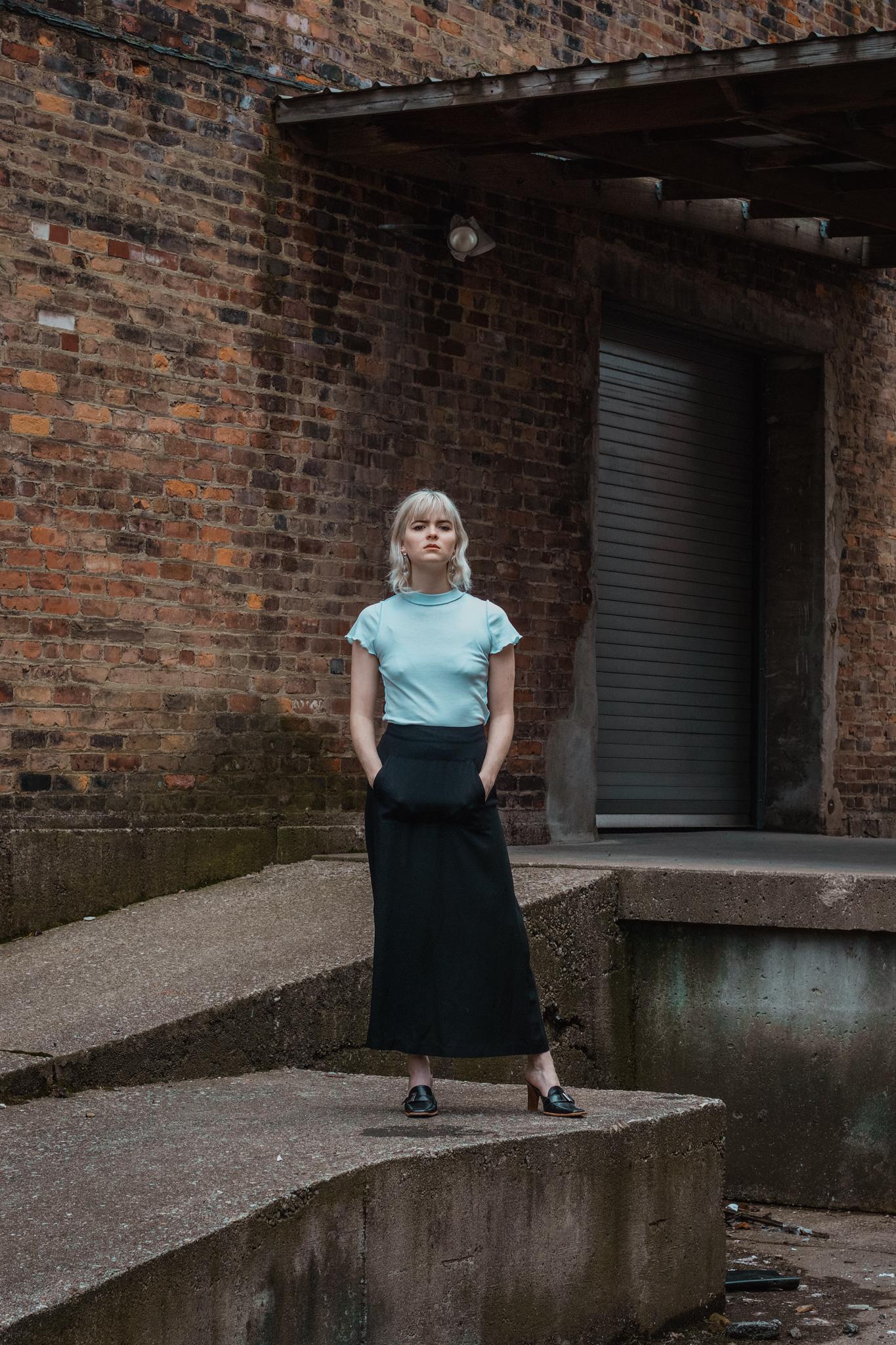 Permanent Vacation Prose Maxi Skirt, Black