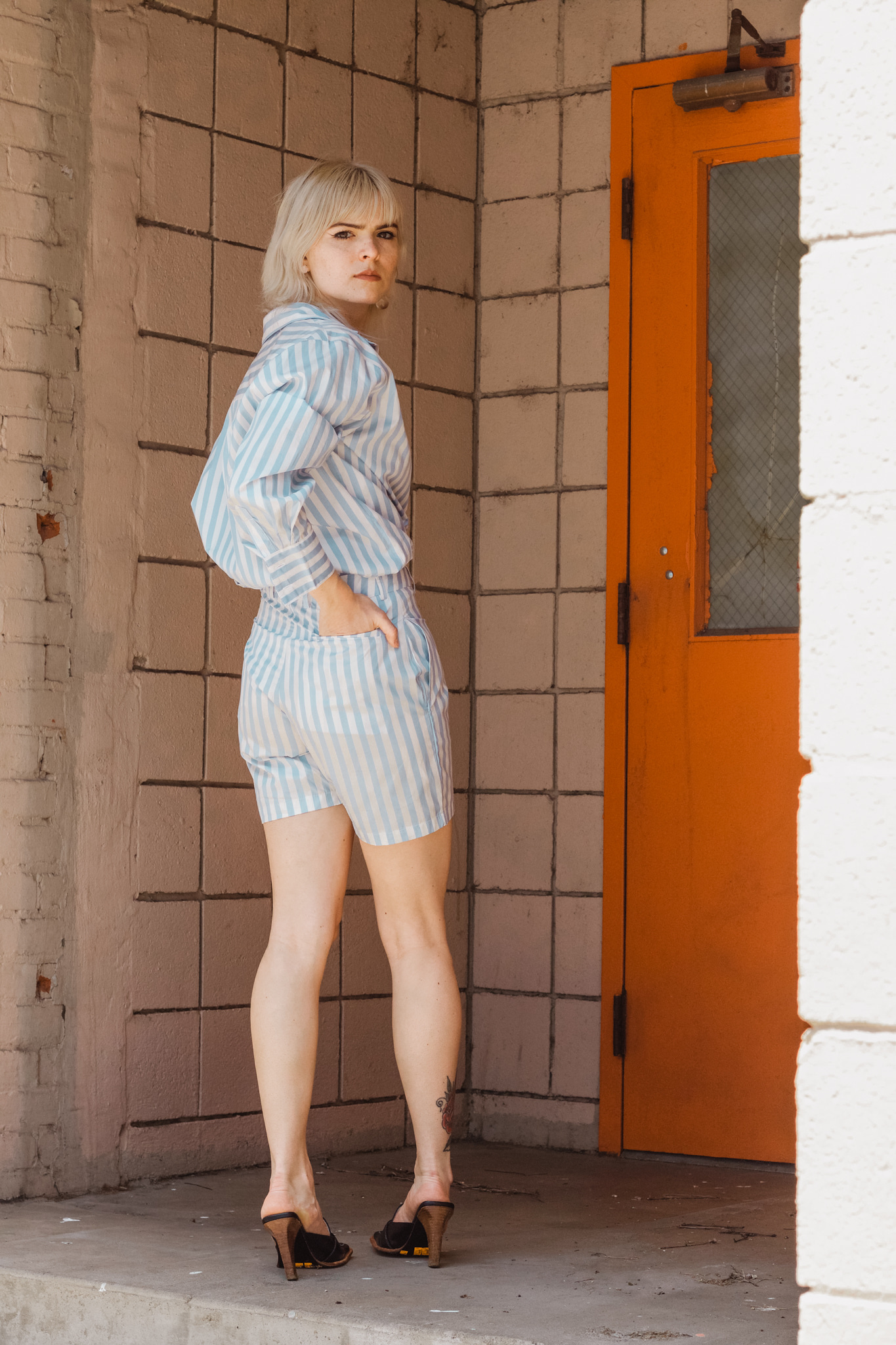 By Signe Ivy Shorts, Striped