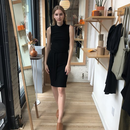 Eve Gravel Ginger Dress, Black