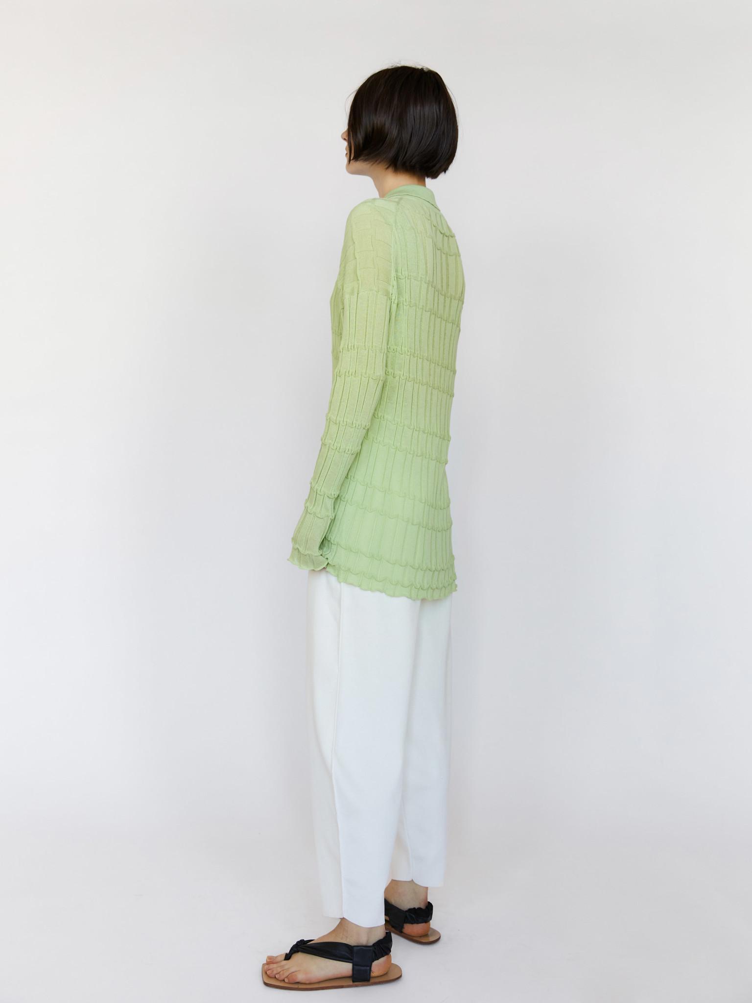 RUS Reflet Pale Green Cardigan