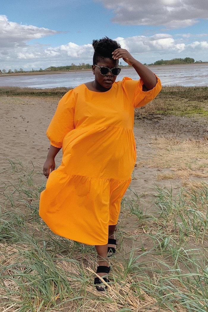 Wray Rosemary Dress, Carrot