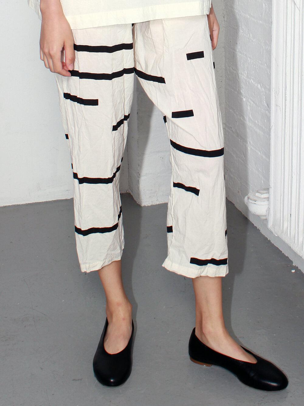Uzi NYC Cream Broken Pants