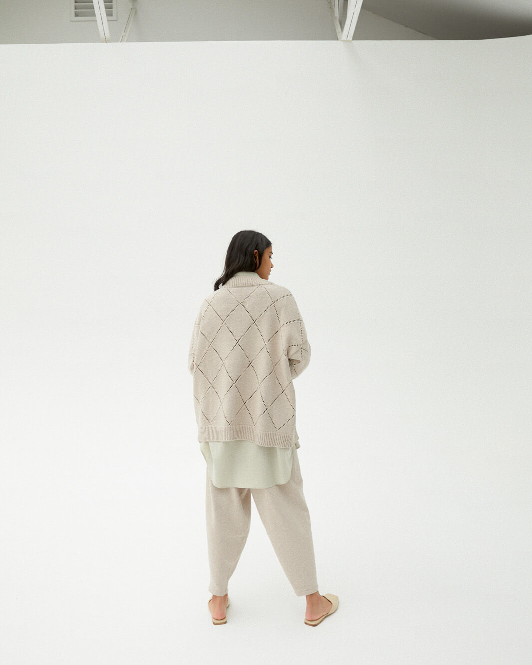 Monica Cordera Sweater, Pale Linen, ONE SIZE FITS ALL