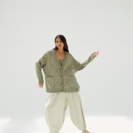 Monica Cordera Cardigan, Sage Green ONE SIZE FITS ALL