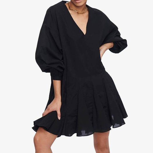 Anine Bing Peyton Dress, Black