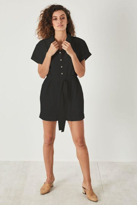 Rollas Horizons Playsuit, Black